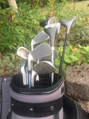 Golf Bag, Clubs, Pegs, and Golf Balls for Sale in Renton, WA