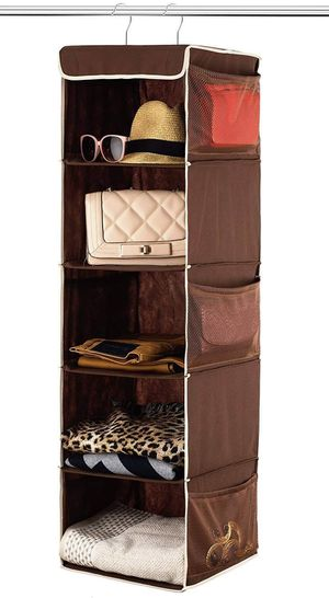 Closet Organizer Hanging Space Saver Home Storage Shelves Pockets for Sale in Santa Fe, NM