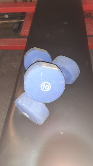 10lb dumbbells for Sale in McKeesport, PA