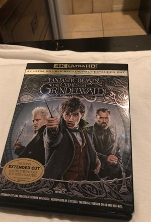 Movie FANTASTIC BEASTS THE CRIMES OF GRINDELWALD 4K (see details ) for Sale in Los Angeles, CA