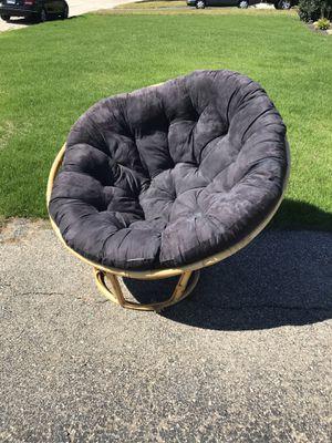 Papasan chair and cushion for Sale in Warwick, RI
