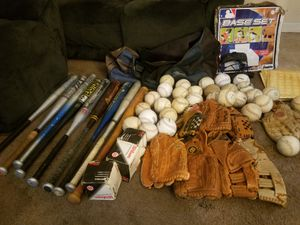 Gloves, Softballs, and Bats make me a offer for Sale in Durham, NC