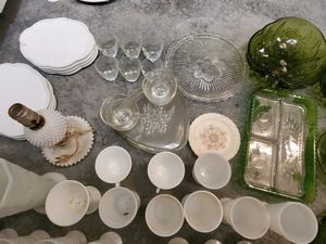 Milk glass cups and more for Sale in Raleigh, NC