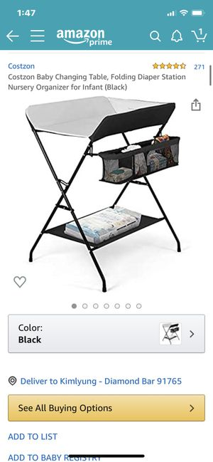 baby changing table for Sale in Diamond Bar, CA