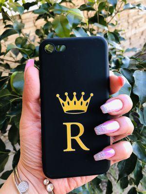 Brand new cool iphone 7, 8 REGULAR case cover rubber king R mens guys hypebeast hype swag for Sale in San Bernardino, CA