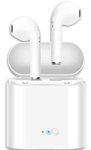 White wireless Bluetooth earbuds with charging case for Sale in Hillsboro, OR