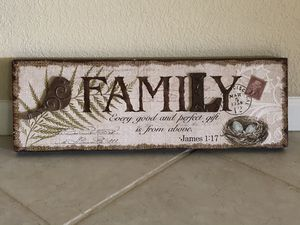 """Wall Hanging: Wood With 2 Metal Accents. 23.5"""" x 8"""" x 1.25"""". Original Price: $14.99 for Sale in Orlando, FL"""