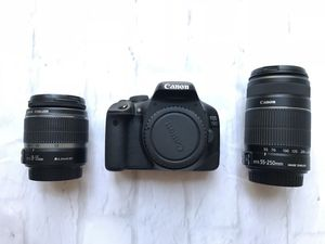 Canon EOS 550D/Rebel T2i DSLR Camera w/ 2 lenses, camera bag & original boxes for Sale in San Francisco, CA