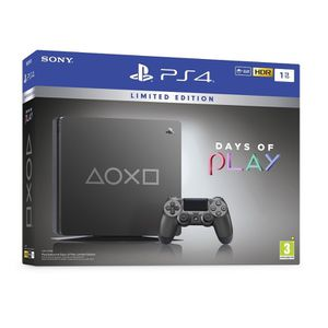 Steel black Ps4 slim 1 TB Special Edition Days Of Play for Sale in Plainfield, IL