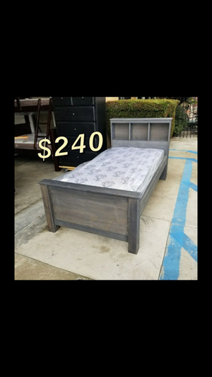 TWIN BED FRAME AND MATTRESS for Sale in Paramount, CA