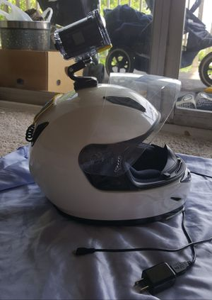 HJC helmet size small with sony action camera for Sale in Alexandria, VA
