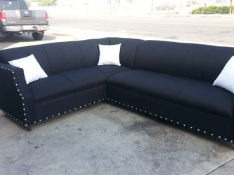 NEW 7X9FT BLACK FABRIC SECTIONAL COUCHES for Sale in West Covina,  CA