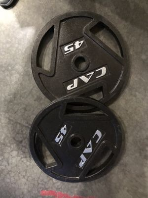 90lb Cap Easy Grip Olympic Weights 2-45lb for Sale in Seattle, WA