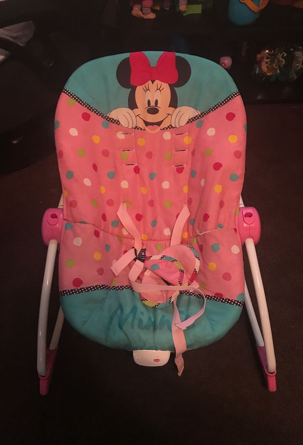 Wood changing table And Minnie rocking chair for free