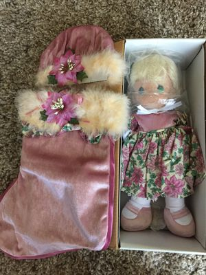Precious Moments Christmas Stocking Doll for Sale in Corona, CA