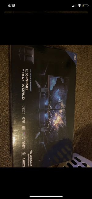 AOC CQ27G1 27inch Pc/Gaming monitor for Sale in Fresno, CA