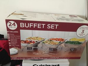 Buffet Set with Water Pans for Sale in Suitland, MD