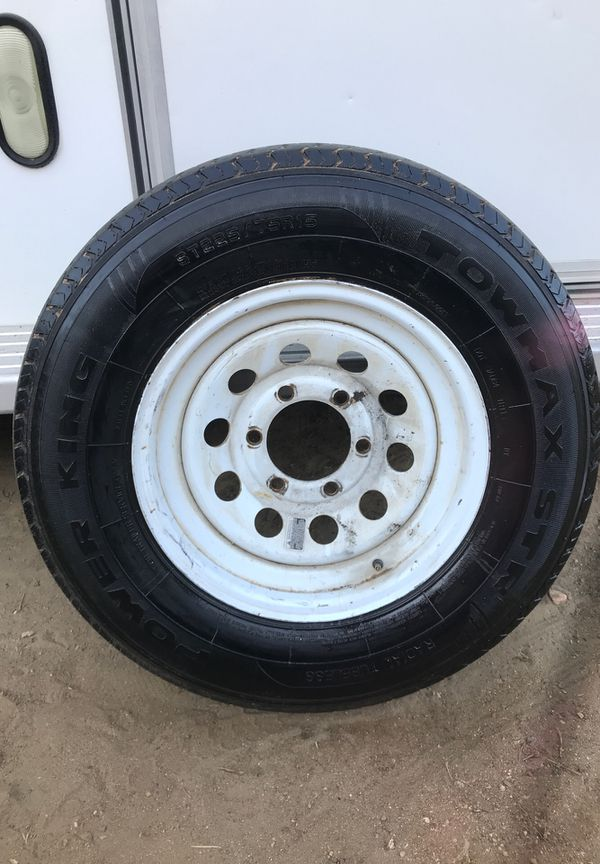 Trailer tire 10ply and rim 225/75-15