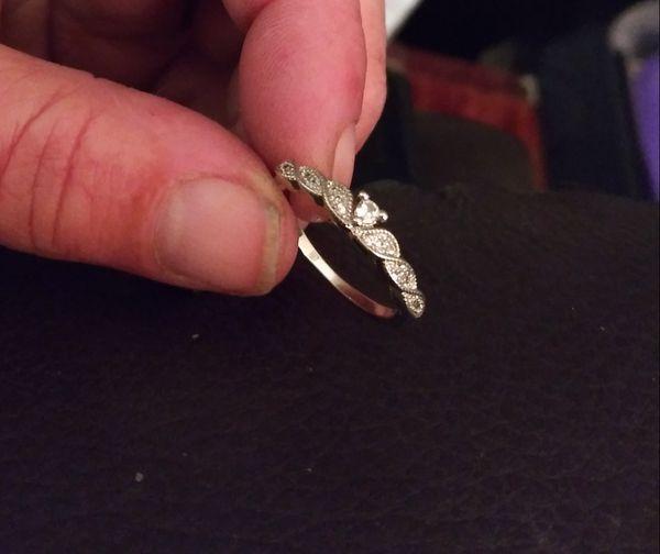 Diamond-Encrusted/Two-Toned Wedding Band