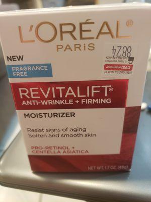 L'oreal Fragrance Free Anti Wrinkle Moisturizer for Sale in Las Vegas, NV