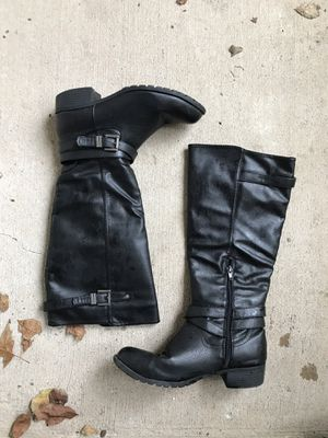 Winter leather boots for women (Black color) for Sale in Houston, TX