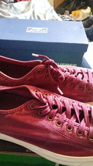 Burgundy men size 13 converse for Sale in Philadelphia, PA