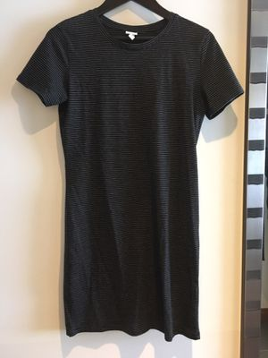 Black striped T-shirt dress - never worn! for Sale in Bothell, WA