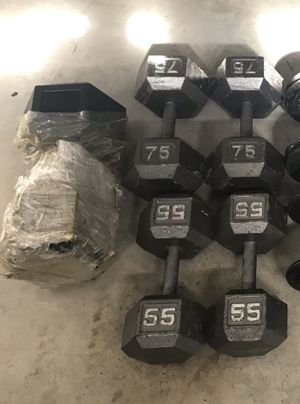 Dumbbells Set Heavy Hex Style for Sale in Rancho Cucamonga, CA