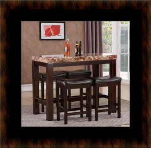 5pc Pub table with 4 stools for Sale in Fairfax, VA