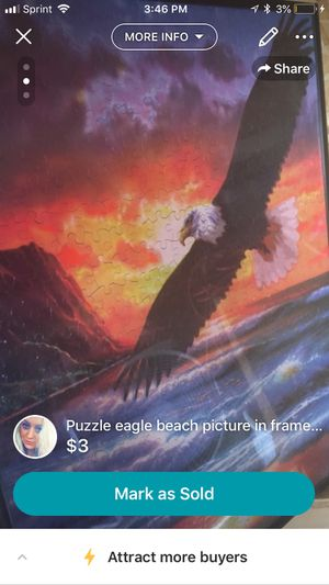 Puzzle picture of eagle at the beach by:sundown for Sale in Kingsport, TN