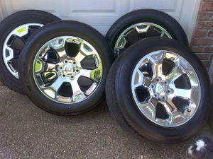 "Dodge 20"" 6 lug chrome wheels and lugs for Sale in Hawkins, TX"