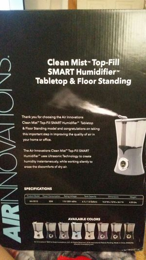 Innovations smart humidifier clean air $60 for Sale in Philadelphia, PA
