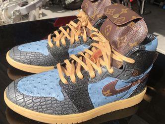 Nike Air Jordan 1 Custom With Louis Vuitton 1 Of 1 for Sale in Las Vegas,  NV