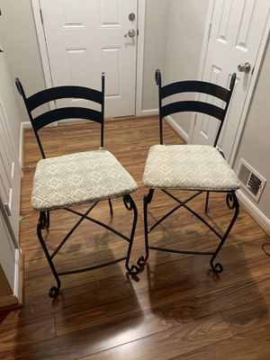 Two wrought iron bar stools for Sale in Sterling, VA