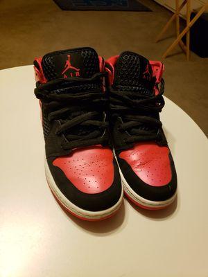 Jordans 1 phat black/siren red white 364781-017 for Sale in Homer, LA
