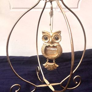 Pier1 Imports OWL Photo Ornament & Holder Christmas Display GOLD Metal Stand New for Sale in Pasadena, CA