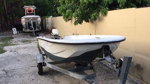 Malibu 12.5 skiff with 15 hp Evinrude for Sale in South Miami, FL