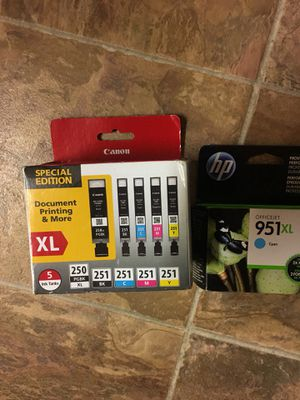 Canon & hp inks for Sale in Silver Spring, MD