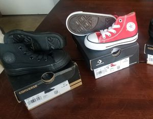 2 pairs Converse Toddler shoes 5c/5k for Sale in Canal Winchester, OH