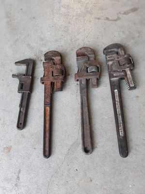 Set- Pipe Wrenches for Sale in San Antonio, TX