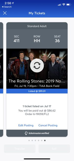 Rolling Stone Tickets 7/19/19 Jacksonville for Sale in Land O Lakes, FL