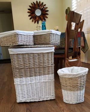 Wicker basket set for Sale in Pasadena, CA