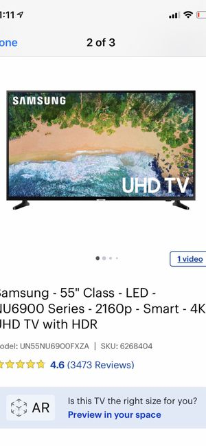 "Samsung 55"" LED 4K TV please read description for Sale in Gilroy, CA"