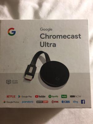 Chromecast ultra for Sale in Houston, TX