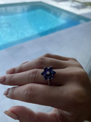 Silver amethyst ring for Sale in Davie, FL