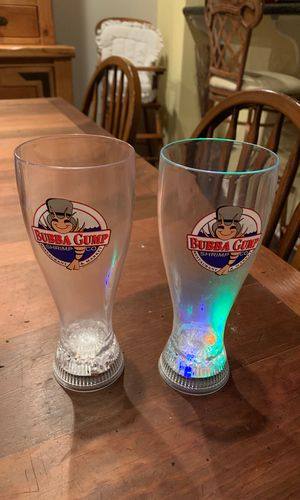 2 Bubba Gump Shrimp Co Collectible Glasses - Flashing for Sale in Naval Air Station Point Mugu, CA