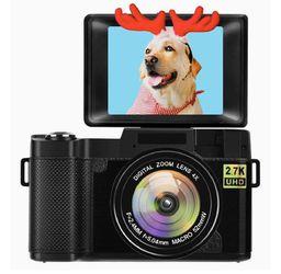 Digital Camera Vlogging Camera with Flip Screen for YouTube 24MP 3.0 Inch 2.7K Camera with Retractable Flashlight… (Black) for Sale in Burke,  VA