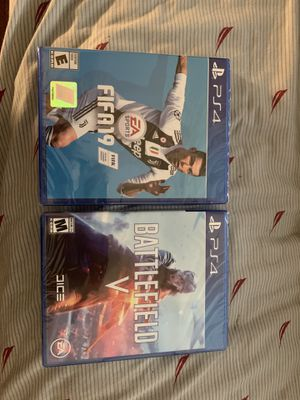 FIFA 19 & Battlefield 5 Brand New for PS4 for Sale in Rockville, MD