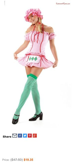 Strawberry Shortcake Halloween Outfit for Sale in Deltona, FL