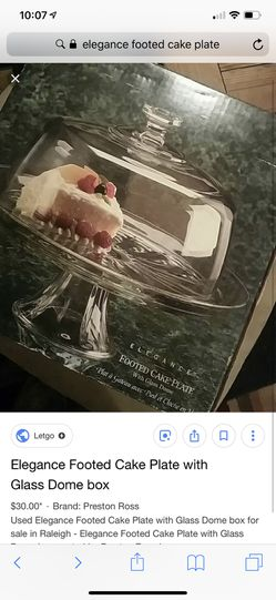 Elegance footed cake plate with stand for Sale in Ashburn,  VA